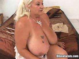 Dude crazy fucking boobs of lustful chubby granny