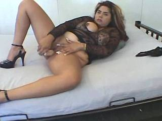 Latin fatty with big tits sucking cocks by turns