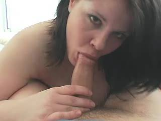 Busty horny fatty eats tasty sperm after hard fuck