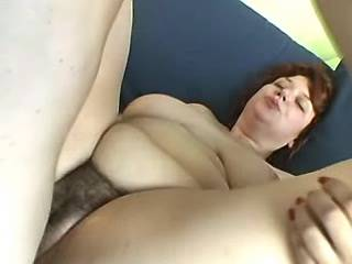Plump cutie with big tits gets fuck and facial