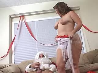 Chubby lady gets real fuck and cum on New Year