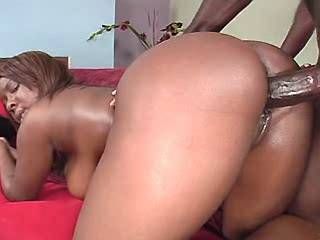 Hot black plumper jumps on strong chocolate dick