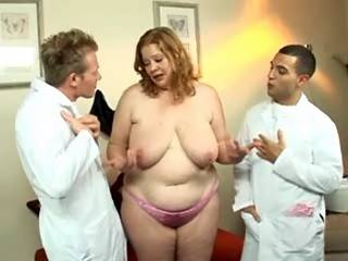 Appetizing BBW sucks hard cocks by turns in group
