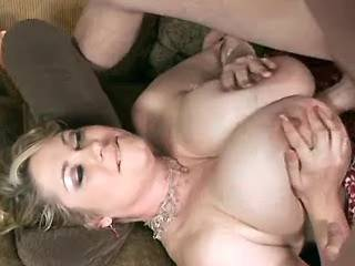 Chubby mature gets cumload on appetizing melons