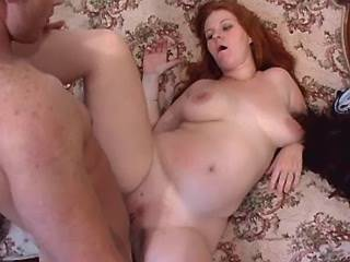 Chubby milf assfucks and gets cum by horny guy