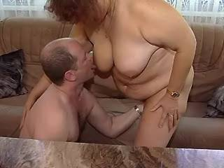 Redhead fat mature gets cumload after crazy fuck
