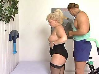 Chubby mature licked and sucks hard cock by man