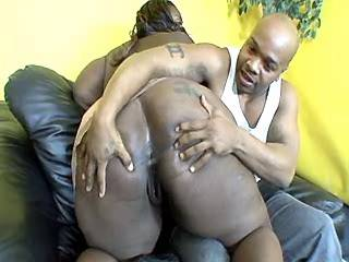 Black guy drills fat ebony whore with giant tits
