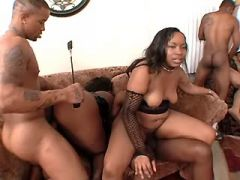 Black fat girls with huge ass get hot cum in orgy